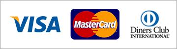 支払方法はVISA MasterCard Diners対応